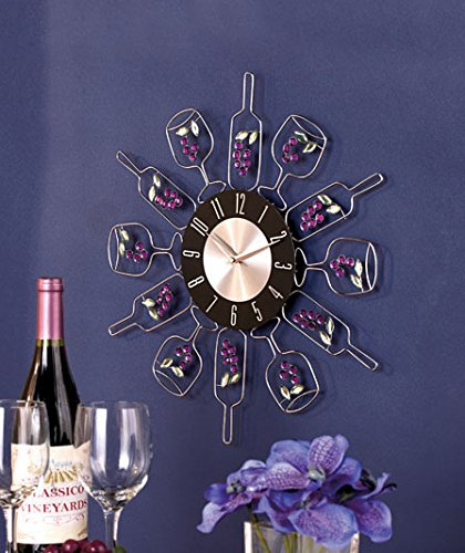 Crystal Wine Bottle Clock