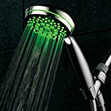 Mid-Summer Price Madness! Limited time offer - save 56% on HotelSpa® NeonTM Ultra-Luxury 7-setting LED Hand Shower with Chrome Face and Color-Changing Temperature Sensor Special Savings Deal from Top Brand Manufacturer!
