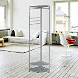 (ON SALE) Grey Arc Corner Wardrobe Cloth Clothes Clothing Coat Hanging Rail Hanger Rack Stand Display Metal