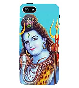 D KAUR Lord Shiva Back Case Cover for Apple iPhone 5::Apple iPhone 5S