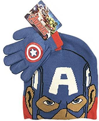 jungen-marvel-captain-america-kinder-wintermutze-handschuhe-official-satz