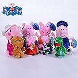 PampasSK Movies & TV - Genuine 4-8pcs/a lot Pink Plush Pig Toys Soft Stuffed Cartoon Animal Doll for Children's Gift 1 PCs (Color: 13cm-46cm, Tamaño: 19cm-30cm 6pcs)