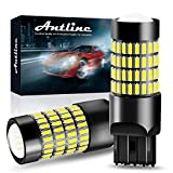 7443 LED Bulbs, ANTLINE 1400 Lumens Super Bright 4014 102-SMD 7440 7441 7444 T20 992 W21W LED Bulbs with Projector for Backup Reverse Tail Brake Turn Signal DRL Parking Lights, Xenon White(Pack of 2)