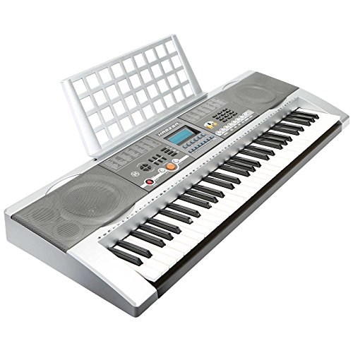 [해외]Hamzer 61 주요 전자 피아노 전자 오르간 키보드 스탠드 & amp; /Hamzer 61 Key Electronic Piano Electric Organ Keyboard with Stand & US