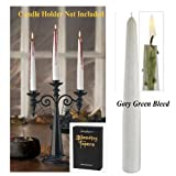Bleeding Tapers Candles Halloween Decor, Gory Green Bleed, 2-piece