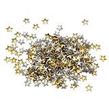 Leegoal Fashion 3D Design Golden/Silver Metallic Studs Nail Art Stickers