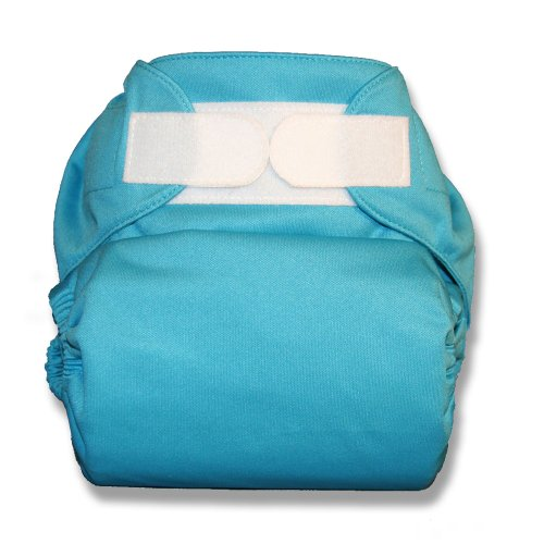 TushMate One-Fits-All Cloth Diaper, Hook & Loop, One-Size (Blue)