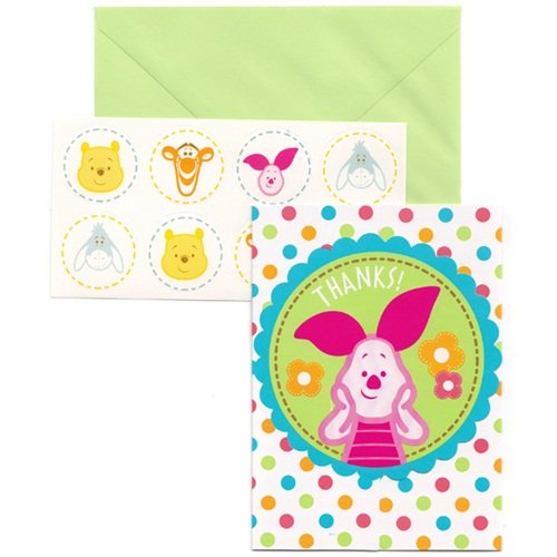 Pooh Little Hunny Baby Shower Thank You Notes