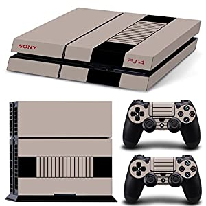 FriendlyTomato PS4 Console and DualShock 4 Controller Skin Set - Original Retro Console - PlayStation 4 Vinyl