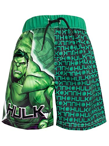 Incredible Hulk Boys Marvel The Hulk Swim Shorts Size 8 (Marvel Trunk compare prices)