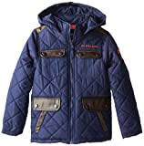 U.S. Polo Association Little Boys Diamond Quilted Parka with Hood