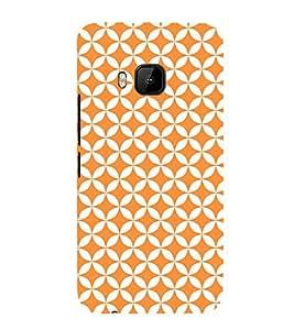 Orange Pentagon 3D Hard Polycarbonate Designer Back Case Cover for HTC One M9 :: HTC M9 :: HTC One Hima