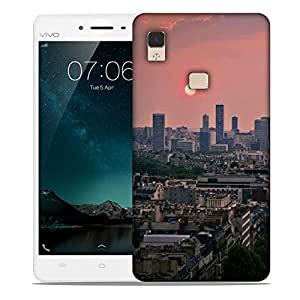 Snoogg Green Roads In City Designer Protective Phone Back Case Cover For Vivo V3 Max
