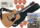 ChordBuddy Acoustic Guitar Bundle - 6 Items: Fender Acoustic Guitar, ChordBuddy, Korg Tuner, Gig Bag, Guitar Strap, Fender PickPack