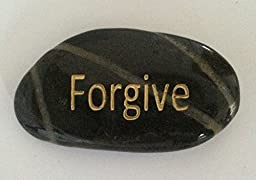 Forgive Engraved Inspirational Stones Keepsakes Or Gifts To Family & Friends (New Words)