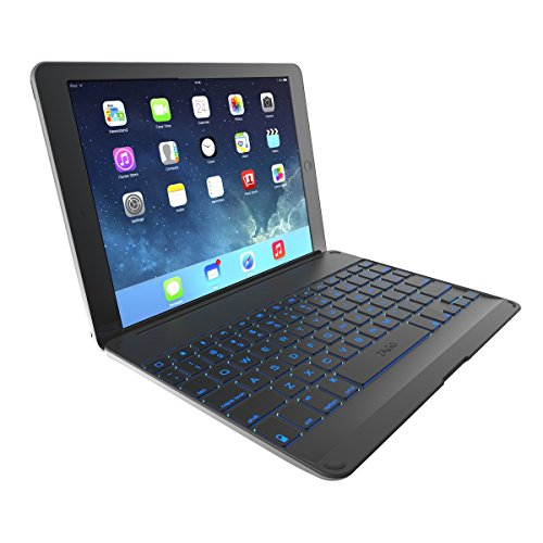 Zagg Cover Case With Backlit Bluetooth Keyboard For Ipad Air-Black