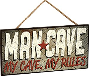 Man Cave Hanging Sign 5 X 10