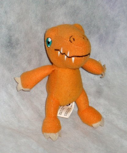 dairy-queen-fast-food-kids-meal-toy-digimon-5-inch-mini-plush-agumon-1-by-digimon