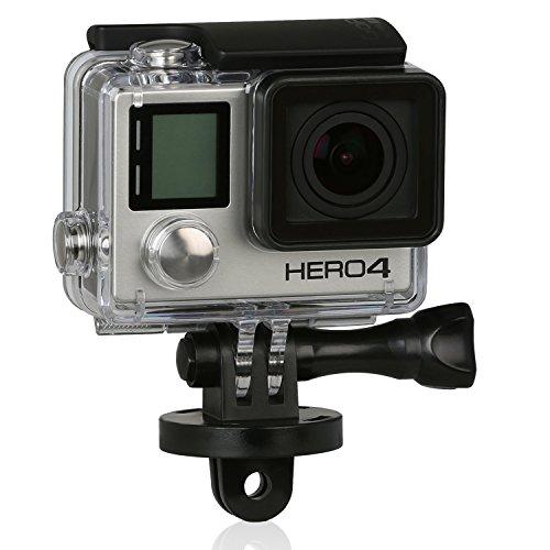 Wicked Chili - Set di adattatori girevoli a 360° per GoPro Hero 4 / 3+ / 3 / 2 / 1, progettati in Germania, colore nero/argento