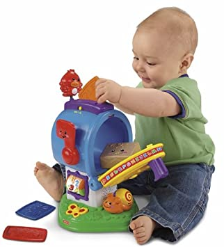 Fisher Price Laugh /& learn mailbox mail letters learning package parcel brown
