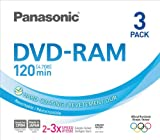 Panasonic 3x speed, 4.7GB, 3 pack DVD-RAM Disc