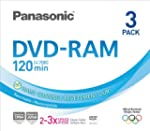 Panasonic 3x speed, 4.7GB, 3 pack DVD...