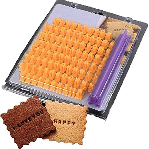 LOHOME(TM) Biscuit Cookie Alphabet Letter Numbers Stamp Embosser Mold Cake Decorating Tools