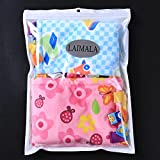 LAIMALA Baby Teething Cloths Teething Blanket with 2 Pacifier Clips, Ultra Soft Coral Fleece