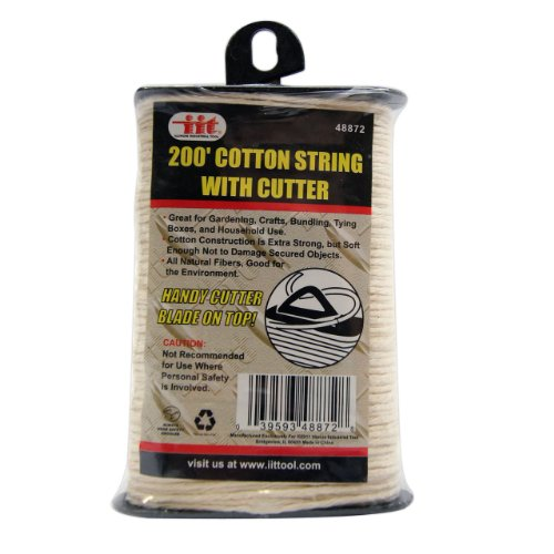 IIT 48872 Cotton String with Built-In Cutter - 200 Feet