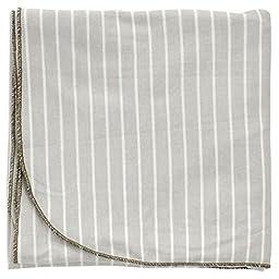 Silkberry Baby Unisex-Baby Newborn Organic Cotton Swaddle Blanket Silver Cloud Stripe