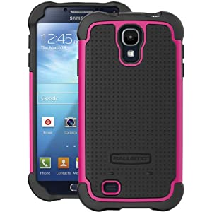 Ballistic SG1158-A195 SG Case for Samsung Galaxy S4 - 1 Pack - Retail Packaging -  Black/Hot Pink
