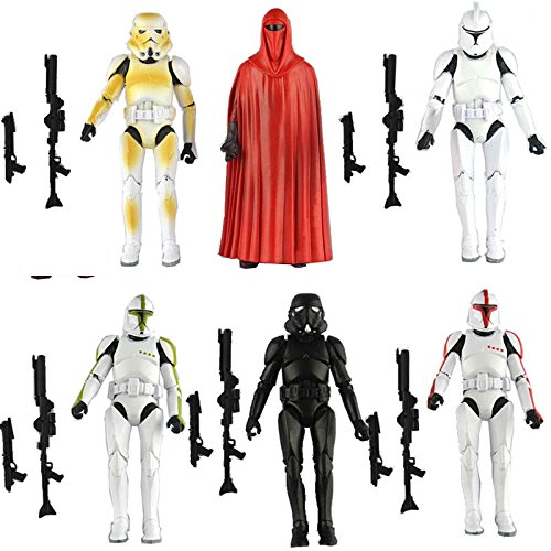 HOT LOT 6 PCS Star Wars Clone Trooper Army Stormtrooper Loose Action Figure Toys