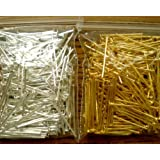Beading Station 400-Piece Mix Head Pins for Jewelry Making, 3/4-Inch, Silver/Gold