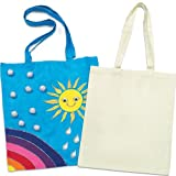 Design a Large Fabric Shoulder Bag for Kids to Decorate and Personalise (Pack of 3)