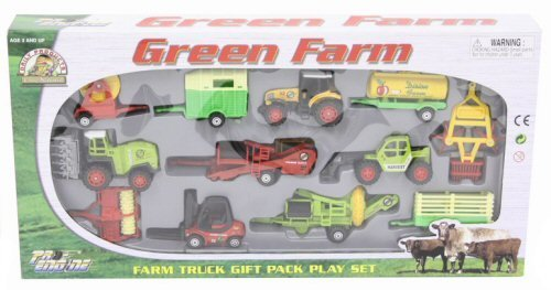 12Pc Die Cast & Plastic Farm Vehicle Playset [Toy]