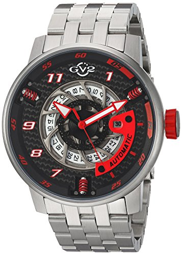 GV2-by-Gevril-Mens-Motorcycle-Sport-Automatic-Stainless-Steel-Casual-Watch-ColorSilver-Toned-Model-1300B