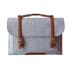 Kansang GREY Woolen Felt 17-17.3 Inch Laptop / Notebook Computer / MacBook / MacBook Pro / MacBook Air Sleeve Case Bag Cover