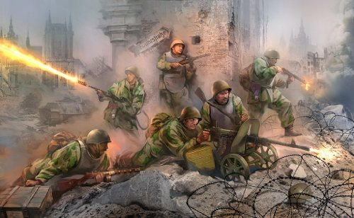 Zvezda Models 1/35 Soviet Assault Troops WWII 6 Figures Set (Model Kit Putty compare prices)