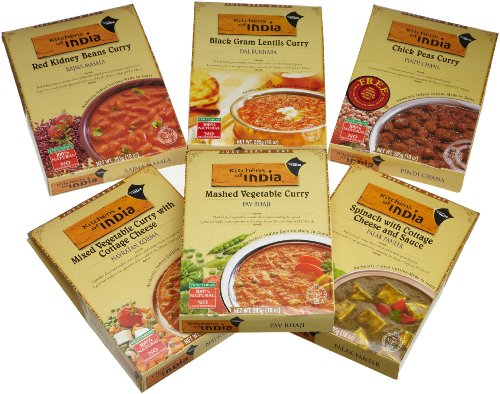Kitchens of India  Ready to Eat Dinner Variety Pack, 10 Ounce Boxes (Pack of 6)