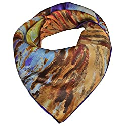 Olina Women's High-Grade Elegant 100% Luxury Square Silk Scarf Shawl (SS008)
