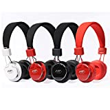 Granvela A809 Foldable Headphone Headset New Fashion Brand Music Player Wireless Handsfree Headset Headphones EarphoneSupport TF Card FM Radio Monitor Portable Audio PC --Black