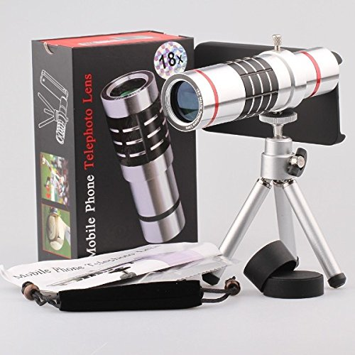Giftsbox 18X Optical Aluminum Telescope Camera Lens With Case Cover For Samsung S4 I9500