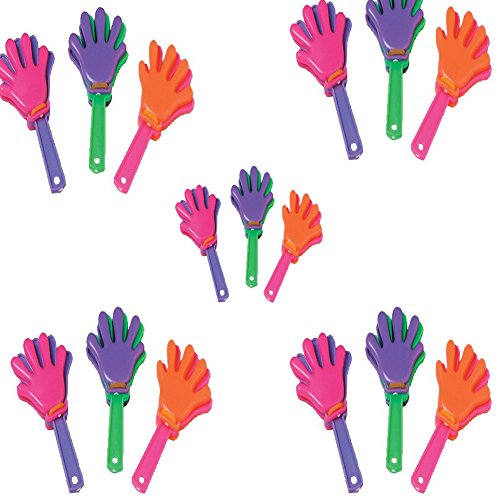 Mini Hand Clappers-72 Pcs - Assorted colors