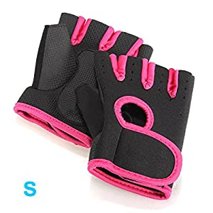 SODIAL(R) NEW Sport Cycling Fitness GYM Half Finger Gloves Weightlifting Exercise Training - Black with Red edge S from SODIAL(R)
