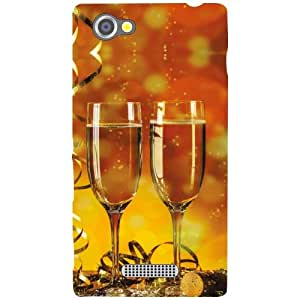 Via flowers Matte Finish Phone Cover For Sony Xperia M