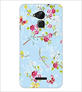 PrintDhaba Flowers and Butterfly D-1156 Back Case Cover for COOLPAD NOTE 3 LITE (Multi-Coloured)