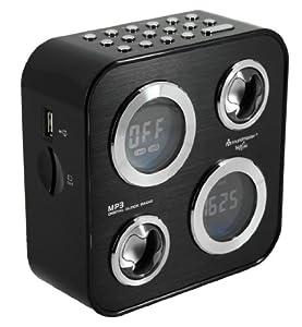 Soundmaster UR 130 Design-Uhrenradio mit USB-Anschluss und SD-Card-Slot