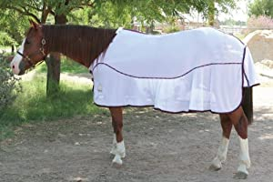 EOUS Dunbar Fly Sheet (White/Eggplant Binding, 84-Inch)
