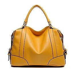 Hynes Victory Womens Luxury Hobo Handbag (Yellow)