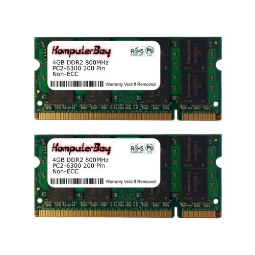 Komputerbay 8GB DDR2 SODIMM (200 pin) 800Mhz PC2 6400 / PC2 6300 CL 6.0
